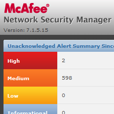 McAfee IPSからFault Sensor connectivity status with GTI serverメールが来た時の対処方法